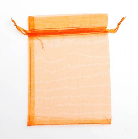 ORGANZA BAG LRG 10P ORANGE