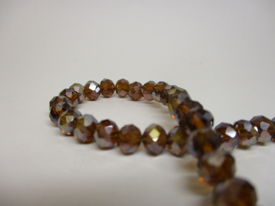 Crystal Disc 6mm Brown AB +/-90pcs