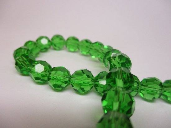 Crystal Round 8mm +/-70pcs Green