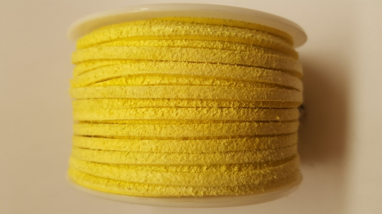 Flat Suede Cord +/-24m Yellow