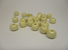 WOOD BEADS 14MM NATURAL 125G