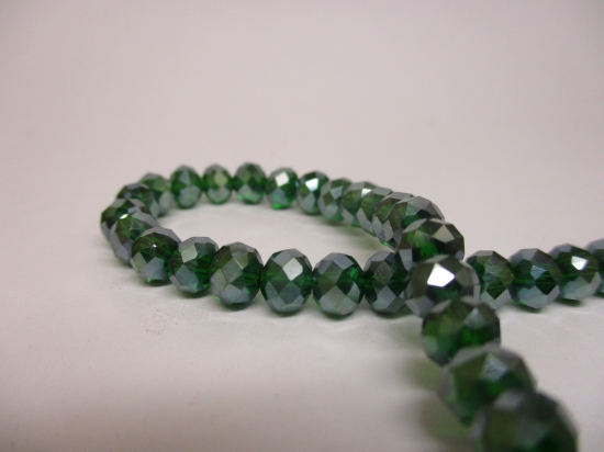 Crystal Disc 6mm Dk Green AB +/-90pcs