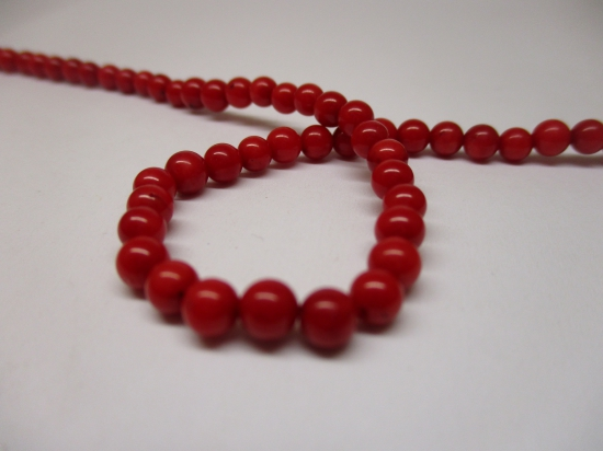 Red Coral 4mm +/-94pcs
