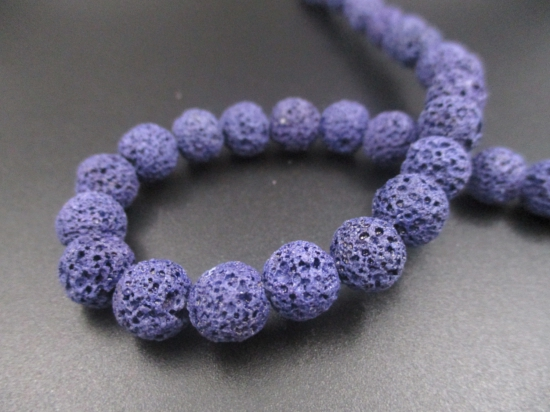 LAVA ROCK 8mm+/-47pcs Dk Purple