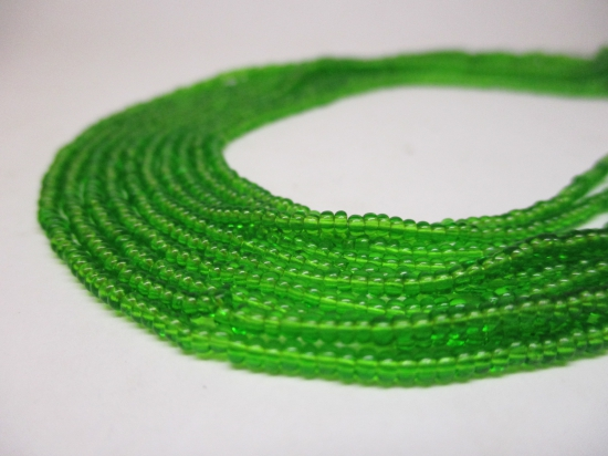 Czech Seed Beads 11/0 Crystal Lt Green 5str x +/-20cm