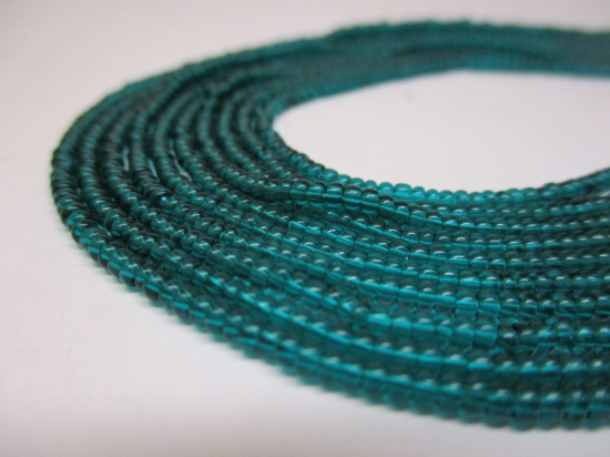 Czech Seed Beads 11/0 Crystal Sea Green 5str x +/-20cm