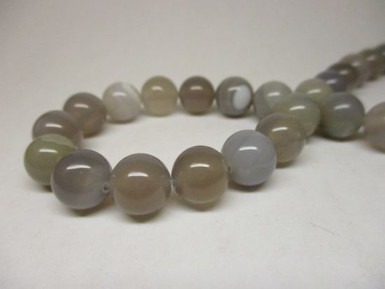 Grey Striped Agate 8mm +/-46pcs