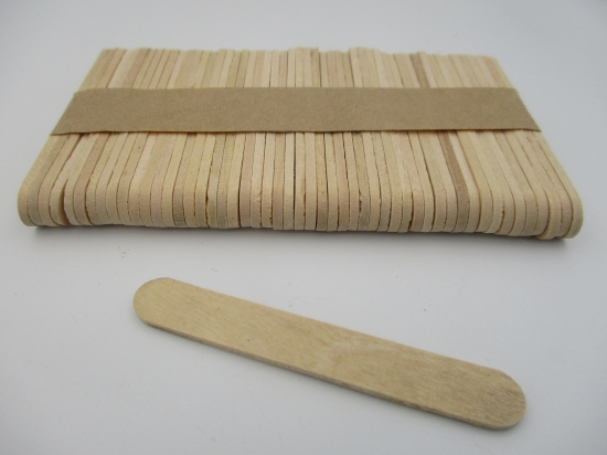 Ice Cream Sticks 65x10mm Natural +/-50pcs