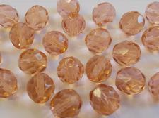 CRYS RND 10MM ROSE 25PCS