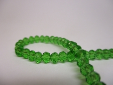 Crystal Disc 4mm Green  +/-140pcs