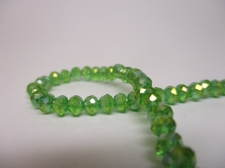Crystal Disc 4mm Green AB  +/-140pcs