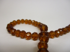 Crystal Disc 6mm +/-90pcs Brown