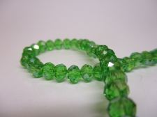 Crystal Disc 6mm +/-90pcs Green AB