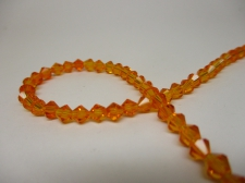 Crystal BIC 4mm Orange +/-100pcs