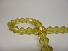 Crystal Bic 8mm +/-40pcs Gold