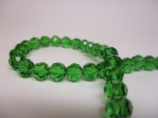 Crystal Round 6mm +/-90pcs Green