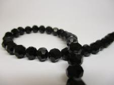 Crystal Round 6mm Black +/-90pcs