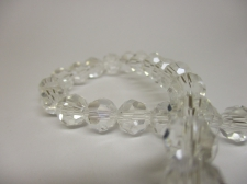 Crystal Round 8mm Clear AB  +/-70pcs