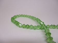 Crystal BIC 4mm Green +/-100pcs