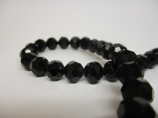 Crystal Round 8mm Black  +/-70pcs