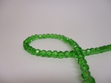 Crystal Round 4mm Green +/-100pcs