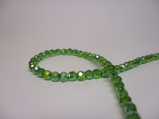 Crystal Round 4mm Green AB +/-100pcs