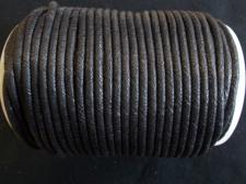 Wax Cord 4.0mm Black 100m