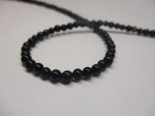 Black Agate 4mm +/-109pcs