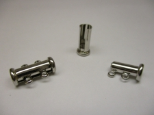 MAGNETIC CLASP TUBE 2STR 15X5MM 2PCS