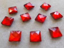 HotFix SQR 8mm 10pcs Red