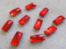 HotFix Rectangle 5x10mm 10pcs Red