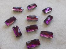HotFix Rectangle 5x10mm 10pcs Purple