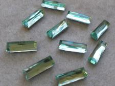 HotFix Rectangle 5x15mm 10pcs Lt Green