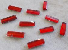 HotFix Rectangle 5x15mm 10pcs Red