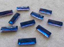 HotFix Rectangle 5x15mm 10pcs Blue