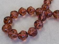 Czech Glass Bead 14mm Lt Pink +/-30Pcs