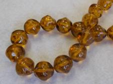 Czech Glass Bead 14mm Gold +/-30Pcs