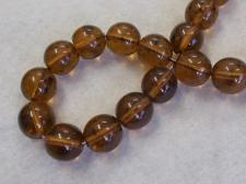 Czech Glass Bead 12mm Brown +/-40Pcs