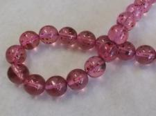 Czech Glass Bead 12mm Pink +/-40Pcs