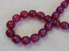 Czech Glass Bead 10mm Purple+/-50Pcs