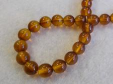 Czech Glass Bead 8mm Gold+/-75Pcs