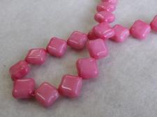 Czech Glass Diamond12x12mm Pink+/-40pcs