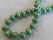 Czech Glass Bead 8mm Green Gloss Finish+/-75pcs