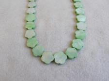 Czech Shell Beads Flower 3x15mm +/-28pcs Green