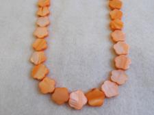 Czech Shell Beads Flower 3x15mm +/-28pcs Orange
