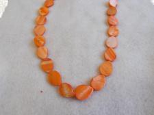 Czech Shell Beads Drop 3x13x17mm +/-22pcs Orange