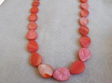 Czech Shell Beads Drop 3x13x17mm +/-22pcs Pink