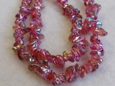 Chip Czech Glass Beads 80cm str Red AB