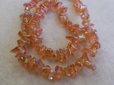 Chip Czech Glass Beads 80cm str Orange AB