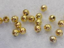 Hollow Metal Bead 4mm/Brass +/-180pcs